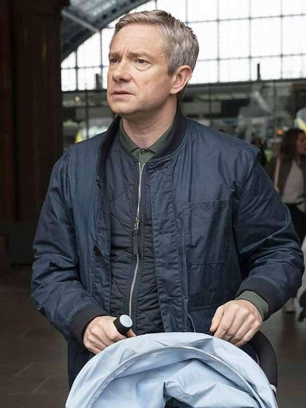 Paul Blue Bomber Jacket