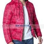 Pink Bandana Puffer Jacket