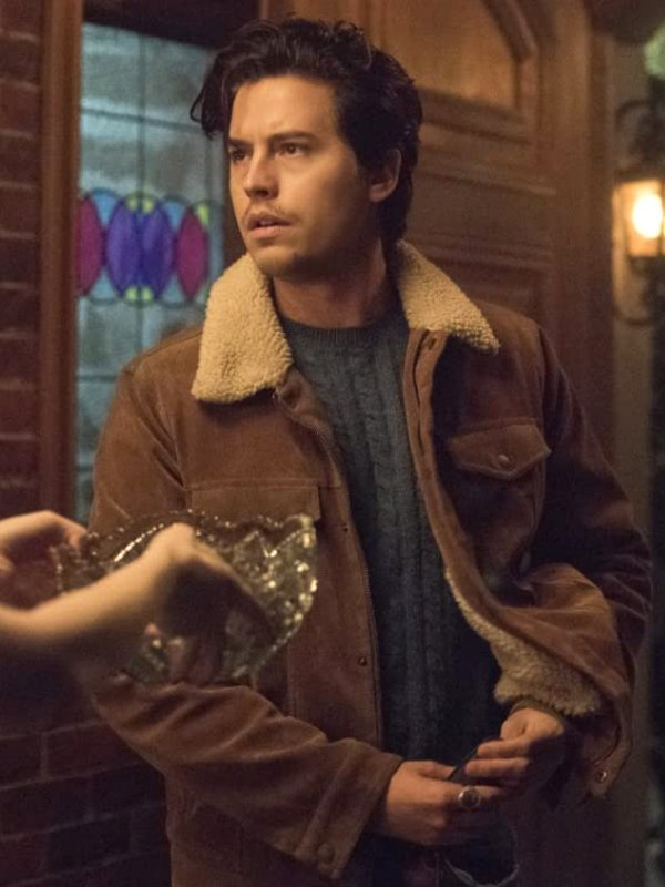 Riversale Season 5 Jughead Jones Brown Shearling Jacket