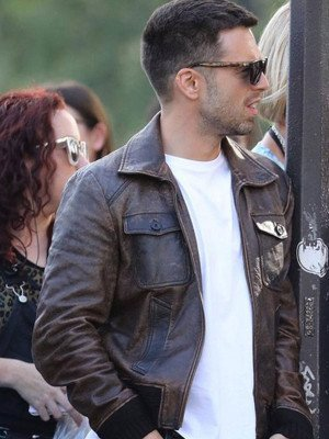 The 355 Sebastian Stan Leather Jacket