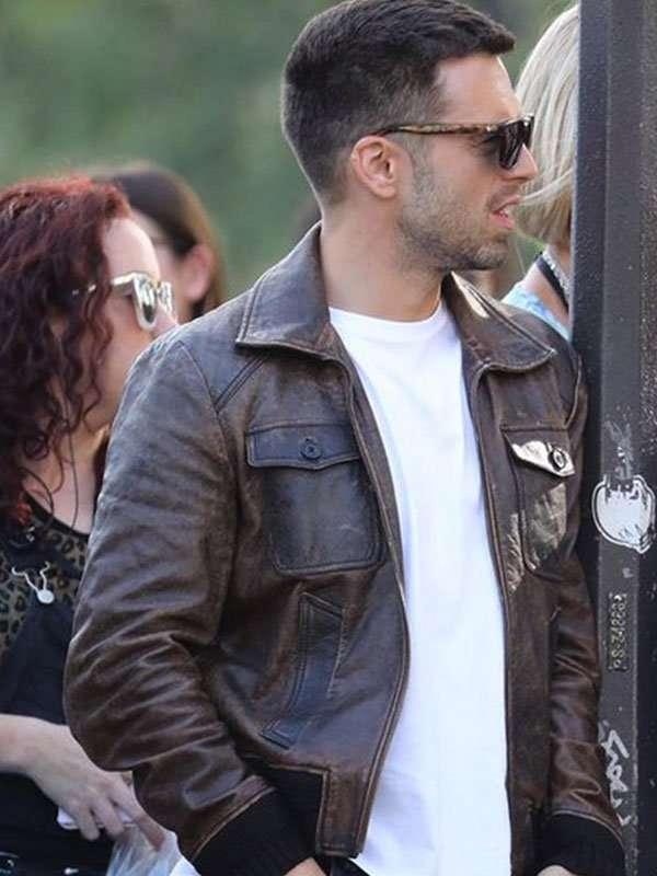 Sebastian Stan The 355 Leather Jacket