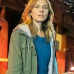 Sienna Miller 21 Bridges Frankie Burns Cotton Jacket