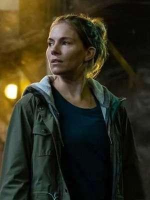 Sienna Miller 21 Bridges Green Cotton Jacket
