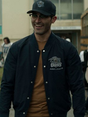 Clark Kent Superman and Lois Varsity Jacket