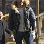 The Bachelor Matt James Black Parka Hooded Jacket