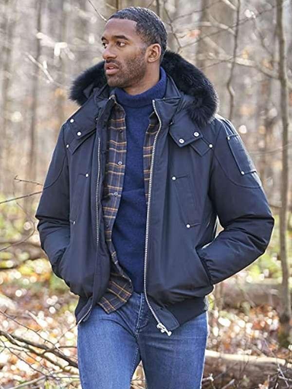 The Bachelor Matt James Blue Hooded Jacket