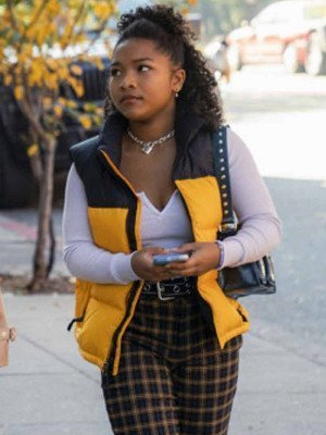 Delilah Winter The Equalizer 2021 Yellow Puffer Vest