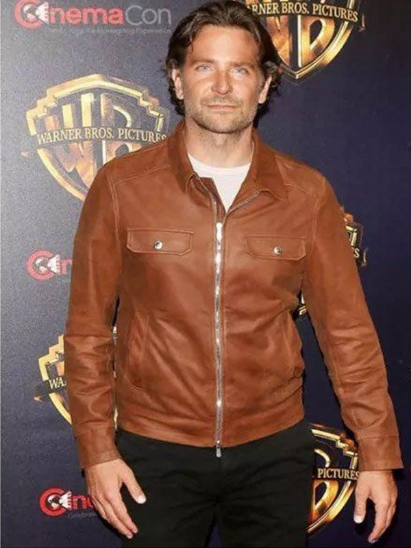 A Star Is Born Jackson Maine Brown Leather Jacket