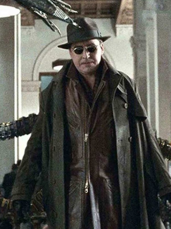 Alfred Molina Leather Trench Coat