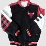 Chicago Bulls Bomber Leather Varsity Jacket