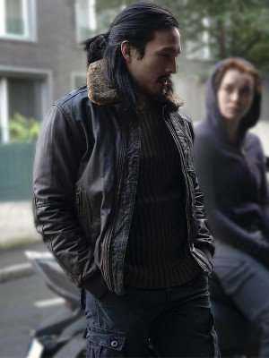 Desmond Chiam The Falcon and the Winter Soldier Dovich Leather Jacket