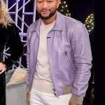 John Legend The Voice 2021 Leather Jacket