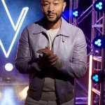 John Legend Voice 2021 Purple Leather Jacket