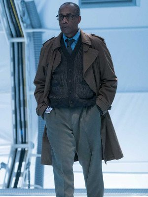 Joe Morton Justice League Brown Trench Coat