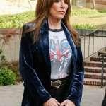 Katey Sagal Rebel Velvet Blazer Jacket