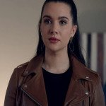 Katie Stevens The Bold Type Brown Leather Jacket