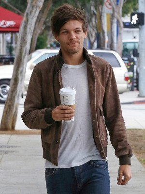 Louis Tomlinson Brown Leather Jacket