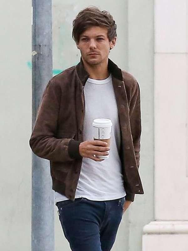 Louis Tomlinson Brown Leather Jacket