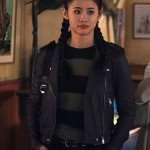 Nancy Drew Leah Lewis Biker Leather Jacket