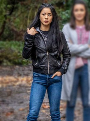 George Fan Nancy Drew Black Leather Jacket