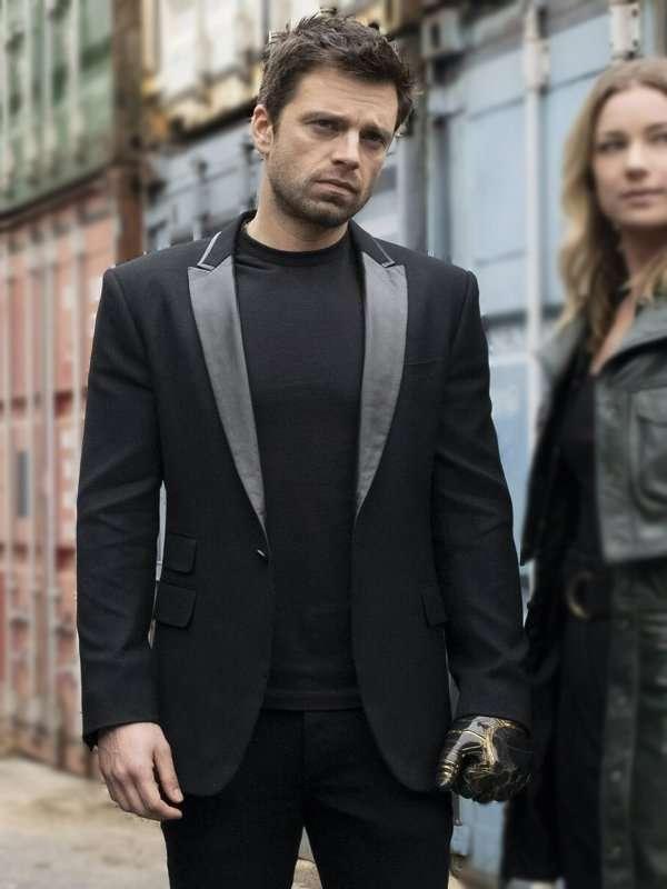 The Falcon and the Winter Soldier Sebastian Stan black blazer