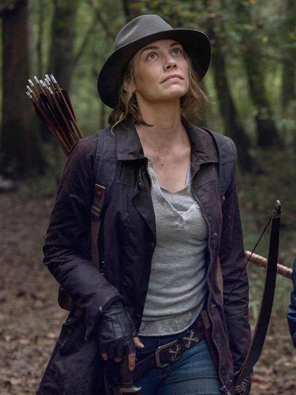 The Walking Dead Lauren Cohan Brown Jacket