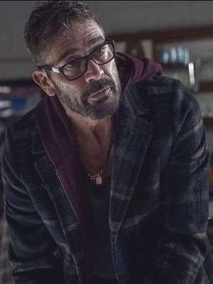 The Walking Dead S10 Jeffrey Dean Morgan Plaid Coat