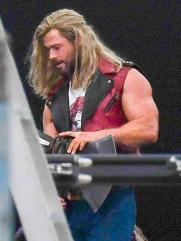 Thor Love and Thunder Red Leather Vest
