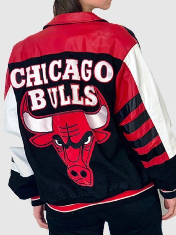 Vintage Chicago Bulls Bomber Leather Jacket