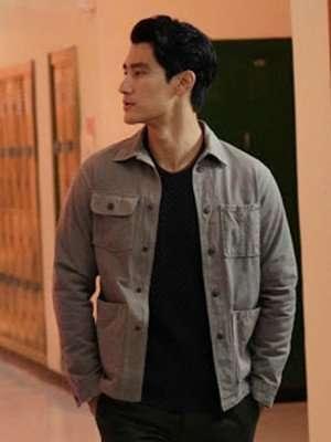 Alex Landi Walker Bret Cotton Jacket