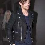 louis tomlinson black suede jacket