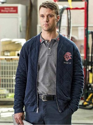 Chicago Fire Matthew Casey Blue Quilted Jacket