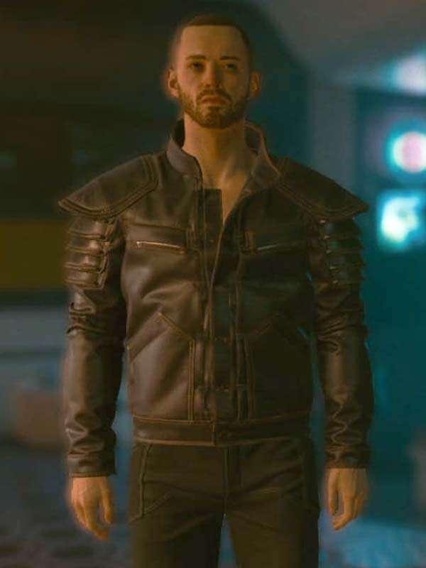 Cyberpunk 2077 Wolf School Leather Jacket