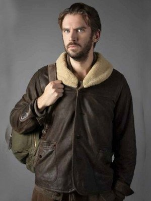 Solos-Dan-Stevens-Brown-Jacket-With-Shearling-Collar