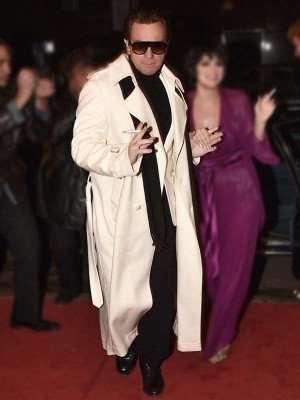 Ewan McGregor Halston White Long Coat
