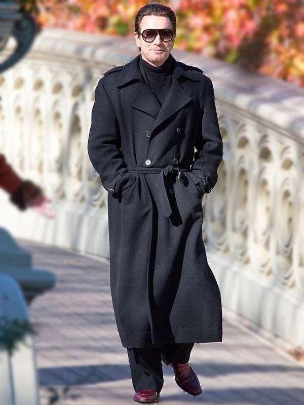 Ewan McGregor Halston double breasted Coat