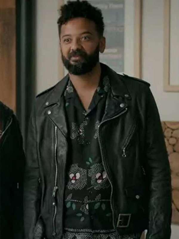 Ian Owens Black Leather Jacket