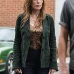 Katey Sagal Rebel Annie Green Leather Jacket