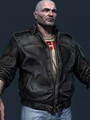 S.T.A.L.K.E.R. 2 Trader Black Bomber Leather Jacket