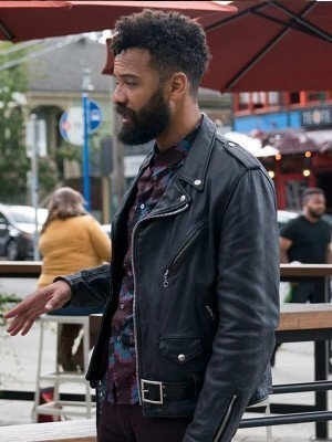 Shrill Amadi Black Leather Jacket