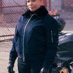 The Equalizer 2021 Queen Latifah Blue Bomber Jacket
