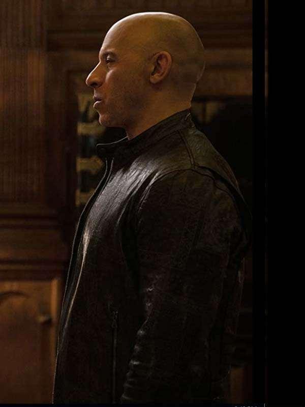 Vin Diesel F9 2021 Black Leather Jacket