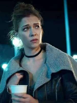 Elisa Who Killed Sara Black Leather Jacket