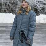 Jen Lilley Blue Puffer Jacket