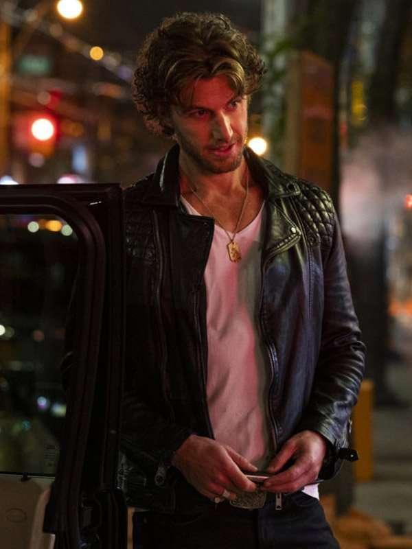 Adam Demos Sex Life Brad Simon Black Leather Jacket