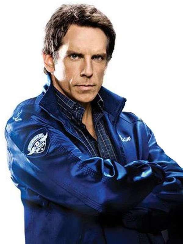 Ben Stiller The Watch Blue Varsity Jacket