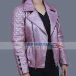 Billie Connelly SexLife Sarah Shahi Biker Jacket