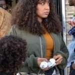 Blindspotting Ashley Jones Green Bomber Jacket