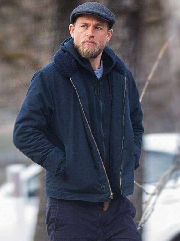 Charlie Hunnam Blue Cotton Jacket