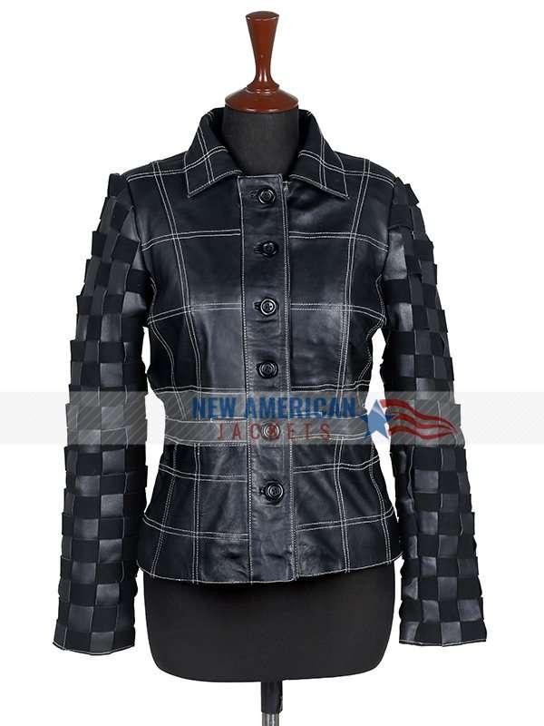 Cruella 2021 Emma Stone Black Leather Jacket